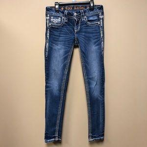 Rock Revival Hana Skinny Jeans size 26w / 29L